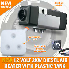 NEW 12 VOLT 2KW Diesel Air Heater Tank Caravan Motorhome RV Planer Thermostat
