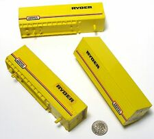 3pc 1982 Aurora AFX 40' RYDER Autocouple Slot Car TRAILER DECORATION REEFER 8020
