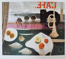 Mary Fedden The black cat Cafe Poster Bild Kunstdruck 56x65,5cm - Portofrei