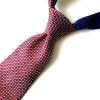 """Tommy Hilfiger Mens Tie Geometric Red Blue Beige 100% Silk Necktie USA 57"""" x 4"""""""