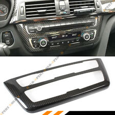 FOR 2014-2018 BMW M3 M4 CD AC CONSOLE CONTROL PANEL CARBON FIBER TRIM HARD COVER