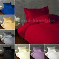 T200 Duvet Cover With Pillow Cases Set Single Double King Super King 8 Colours