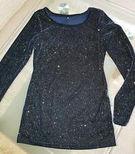 Glitzer Shirt Weihnachtspullover Sylverster Party Shirt Glammer Samt glow neu S