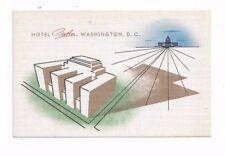 District of Columbia antique linen post card Hotel Statler - Unique View!