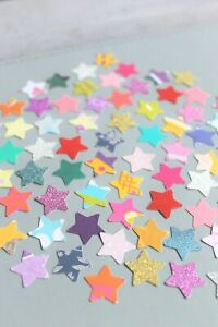 100 x STARS SMALL PAPER CARD MAKING CRAFT EMBELLISHMENTS SCRAPBOOK MEGA PACK