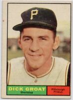 1961 Topps #1 Dick Groat VG-VGEX Pittsburgh Pirates FREE SHIPPING