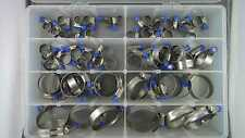 Assortment 60+ Tridon Solid Band Stainless Steel Hose Clamp Kit