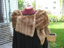 """Vintage Muskrat Fur Stole wrap Blonde Very Soft 57"""" Inches Long"""