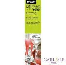 Pebeo - Vitrea 160 Glass Paint Discovery Collection, 6 Assorted 20ml Frosted Col