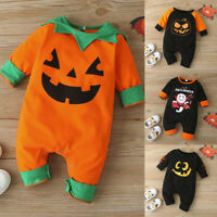 Newborn Infant Baby Boys Girls Halloween Long Sleeve Keep Warm Romper Jumpsuit