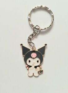 Cute Kuromi My Melody Sanrio Cartoon Cat Girls Keyring Keychain Gift UK