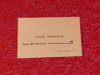 CDV 4 MOTS AUTOGRAPHES LEON MORANE (Pionnier Aviation) Ca 1910 Très Rare!