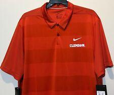 New $75 Clemson Tigers Nike Men's Dri-fit Polo Shirt Size 2XL Orange Stripes Dry