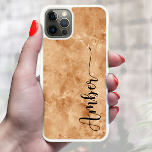 Personalised Marble Stone Texture Phone Case Cover For Apple Samsung etc - 02