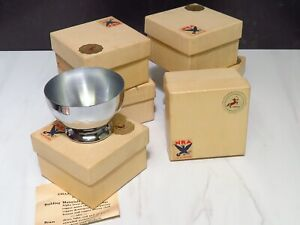 6 Chase Chrome Cocktail Cups NRA Box National Recovery Administration FDR 1930s