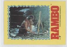 1985 Topps Rambo: First Blood Part II Stickers #7 Non-Sports Card 1i6