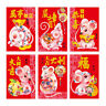 36Pcs Family Fortune Chinese Style Red Envelopes Packet 2020 Rat New Year Pocket