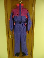 Womens Vintage Columbia Ski Suit One Piece Snowmobile S Unused EUC Radial Sleeve