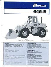 Equipment Brochure - Fiat-Allis - 645-B - Wheel Loader - c1978 (E4018)
