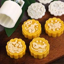Mooncake Mold Flower Mid-autumn Festival Hand Press Moon Cake Cutter Molds Set