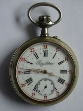 Antique and Large Pocket Watch   GOLIATH made of argentan