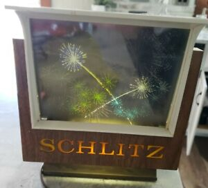 Schlitz Beer Vintage Fireworks Motion Bar Display Advertising Sign Light Up 1967