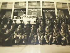 """.WW2 HUGE PANORAMIC PHOTO US ARMY """"G COMPANY 54TH QUARTERMASTER REGIMENT"""""""
