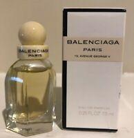 New BALENCIAGA Eau de Parfum Miniature 0.25 fl. oz 7.5 ml Mini Parfum Splash