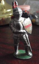 "ODD Vintage Metal Warrior Soldier Figurine 3 1/4"" Tall"