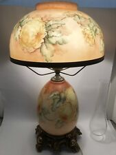 GONE WITH THE WIND Electrified LAMP L&L WMC Floral GTW Hurricane Lighting Art
