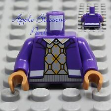 NEW Lego Minifig PURPLE JACKET TORSO -Sweater Vest Shirt Medium Dark Flesh Hands