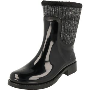 Gosch Shoes Damen Schuhe Gummistiefel Hochwasser gefüttert Wasserdicht Black NEU
