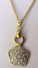 pendentif chaîne rétro étoile cristaux diamant bijou vintage couleur or 225