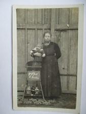 2 x Steiff Puppe Soldat Soldaten alte echt Foto AK um 1915