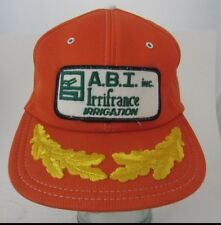 VTG A.B.T Inc.  Irrifrance Irrigation Rare Foam Trucker Hat Cap Advertising A13