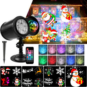 2in 1 Christmas Lights LED Laser Projector Outdoor Landscape Xmas Lamp Wireless