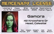 GAMORA Daughter of Thanos Guardians of the Galaxy Marvel Comics Drivers License
