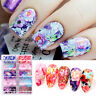 10 Rolls/Set Nail Foils Colorful Flowers Butterfly Nail Art Transfer Stickers
