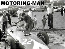BRM P48 TONY Marsh oulton Park Gold Cup di formula 1 1961 Paddock fotografia foto