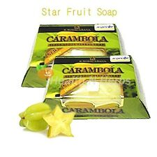 2 bars x 120g. CARAMBOLA STAR FRUIT BLACK SPOTS HERBAL SOAP WITH HONEY