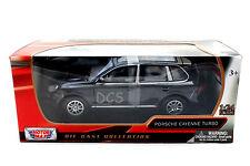 MotorMax Porsche Cayenne Turbo Black 1/24 Diecast Cars