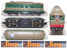 LIMA 201 RETRO LOCOMOTORE D341 DIESEL FS ITALIA MOTORIZZAZIONE CENTRALE SCALA-N