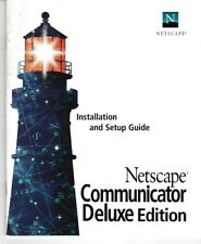Vintage Netscape Communicator Deluxe Edition Installation And Setup Guide  USED