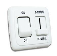 LED Dimmer Switch 12 volt on-off Light RV Motor Home Camper Travel Trailer White
