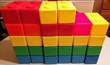 Lot Of 28 Chubs Stackables Lego Block Design Storage Containers