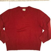 Lands' End Men's 100% Shetland Wool Sweater Large 42-44
