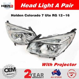Pair Head Light Lamp Projector LTZ For Holden Colorado 7 Ute RG 12~16 LH+RH New