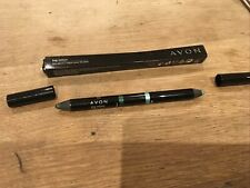 AVON BIG COLOUR CHUNKY DUAL DOUBLE ENDED EYE CRAYON PENCIL GREEN DREAM / H.MINT