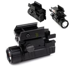 20mm Picatinny High quality Strobe Tactical Flashlight with Red Dot Laser Scope