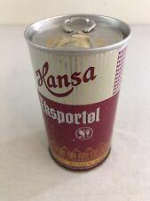 Hansa Ekspportol Export 12 oz Bottom Opened Steel Pull Tab Beer Can